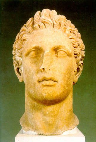 Marble head of an athlete. 4th c. BC. -