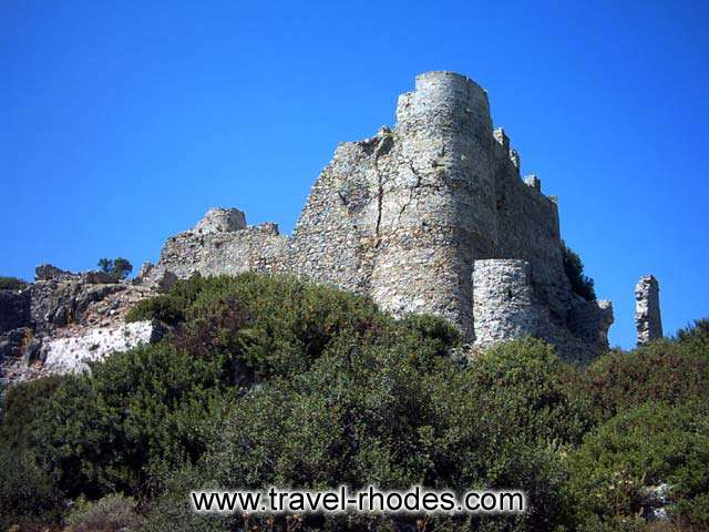 Outside view of the medieval fortress in Asklipios RHODES PHOTO GALLERY - OUTSIDE VIEW