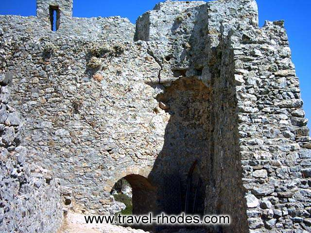 Outside view of the medieval fortress -