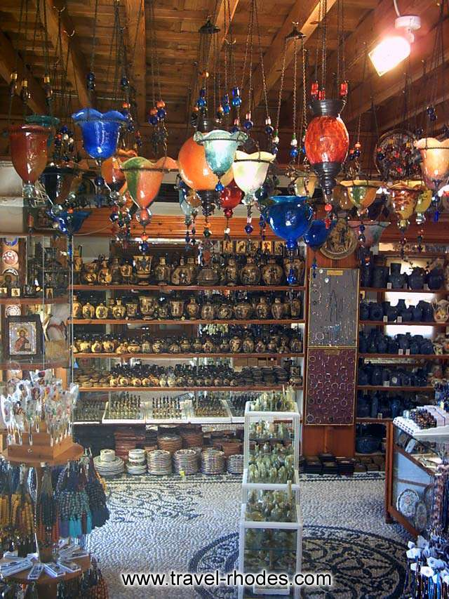 TOURIST SHOP - Shop with tourist gifts in Lindos