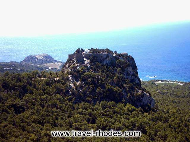 From  the  base of the hill of Monolithos one has to continue by foot up the steps of the Castle, where there is a small church dedicated to Saint Panteleimon. RHODES PHOTO GALLERY - AGIOS PANTELEIMON