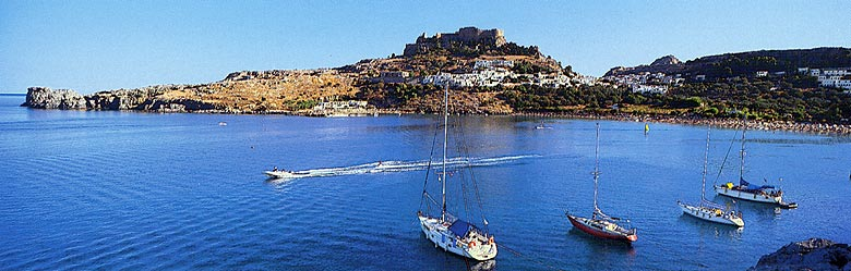 LINDOS PORT - Lindos, a powerful maritime city in antiquity, is considered today, together with the neighbouring Kalathos, Vlicha, Pefki, Pylona, and Lardos, one of the most attractive resorts of the island, a happy marriage of the beauties of nature with its cultural