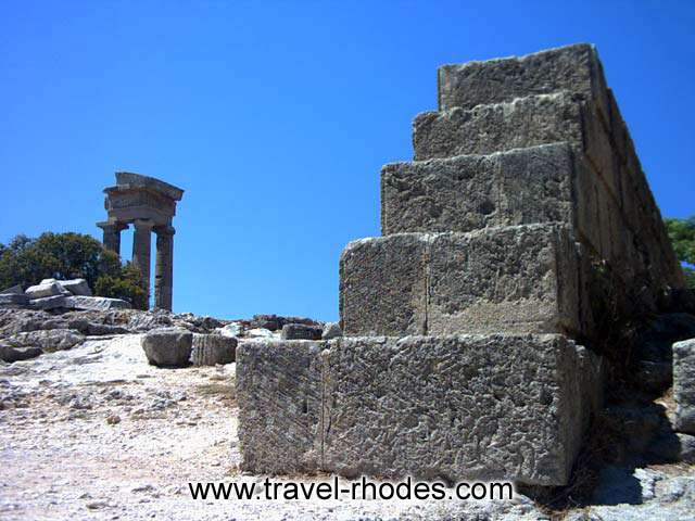 Apollon temple on Monte Smith hill (Rhodes Acropolis) RHODES PHOTO GALLERY - APOLLON TEMPLE