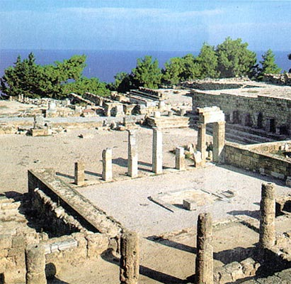 KAMEIROS CITY - The city was developed by the Dorians, as were Ialysos and Lindos.