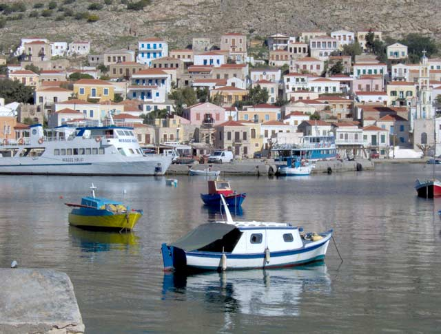 THE PORT OF HALKI ISLAND -