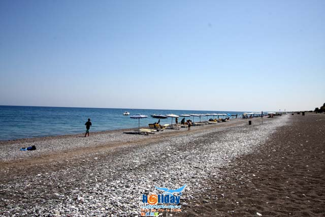 GENNADI BEACH - View of the organised part of Gennadi beach