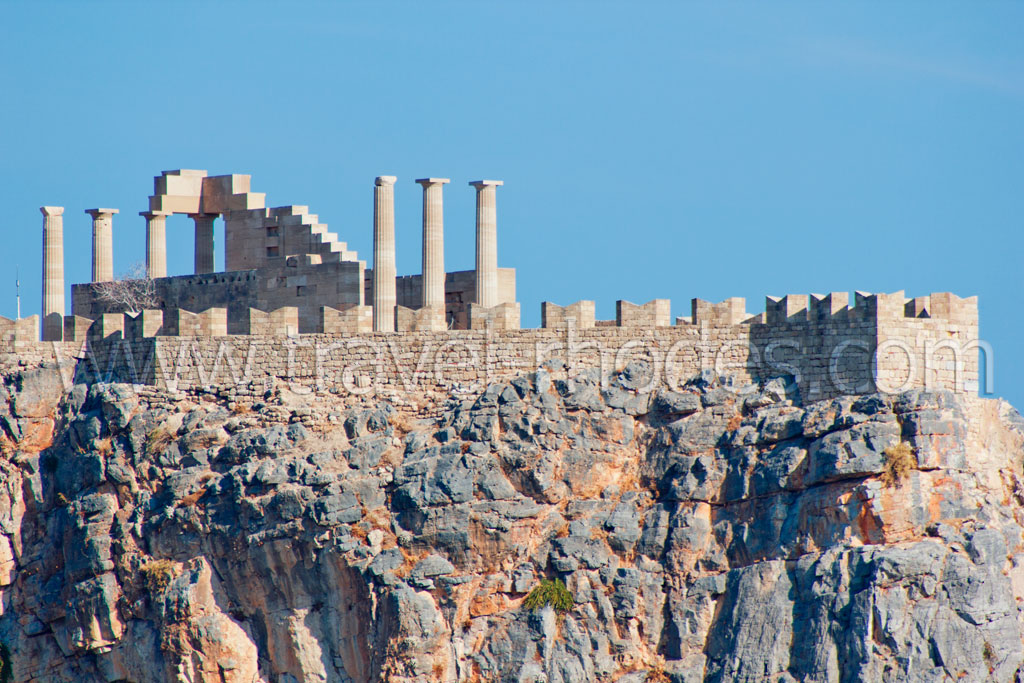 Lindos Castle -  by gstathis