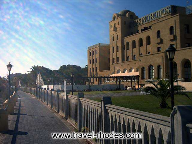 CASINO - The casino building in Rhodes town