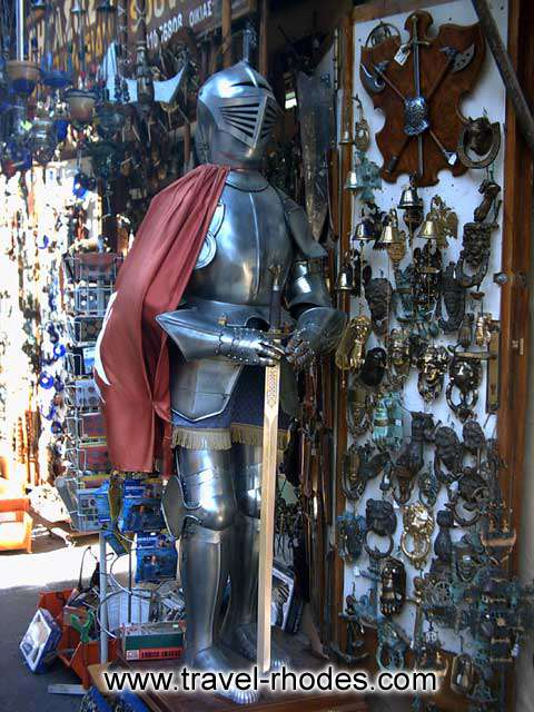 DETAIL - A kinght armor in a shop in Rhodes old city
