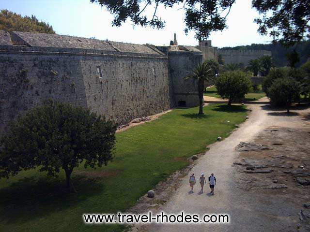 A beautiful spot next to Amboise gate in Rhodes old town RHODES PHOTO GALLERY - GARDIN