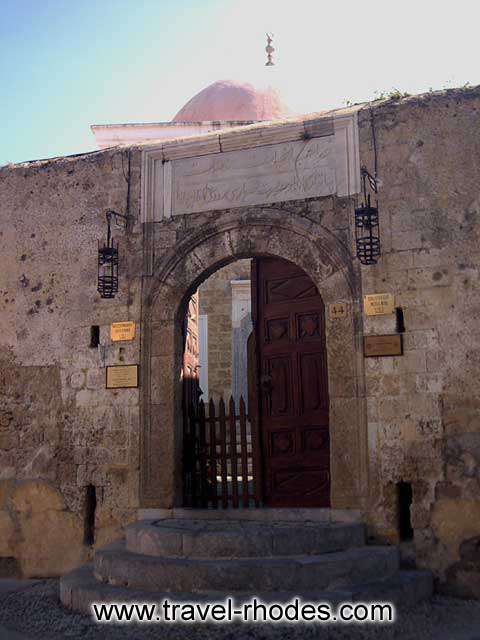 MUSLIM LIBRARY - The entrance to the Muslim library in old town of Rhodes