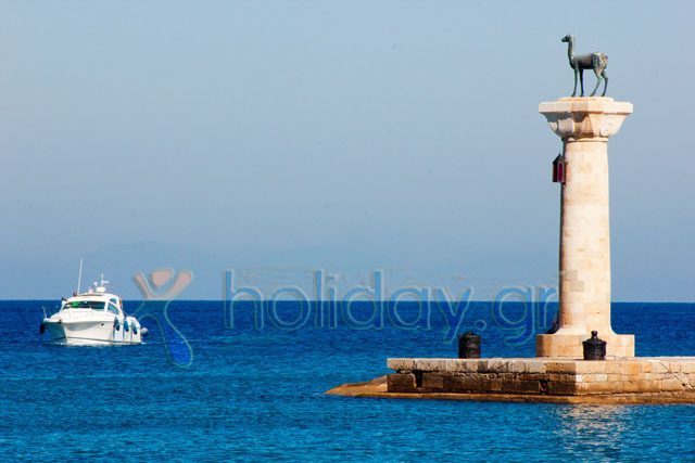 RHODES PORT - One of Rhodes symbols...