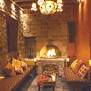 Image of lobby of Nikos Takis Boutique Hotel. CLICK TO ENLARGE