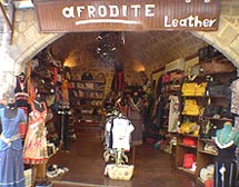 AFRODITE LEATHER IN  11-13, Aristotelous str. (Old Town of Rhodes)
