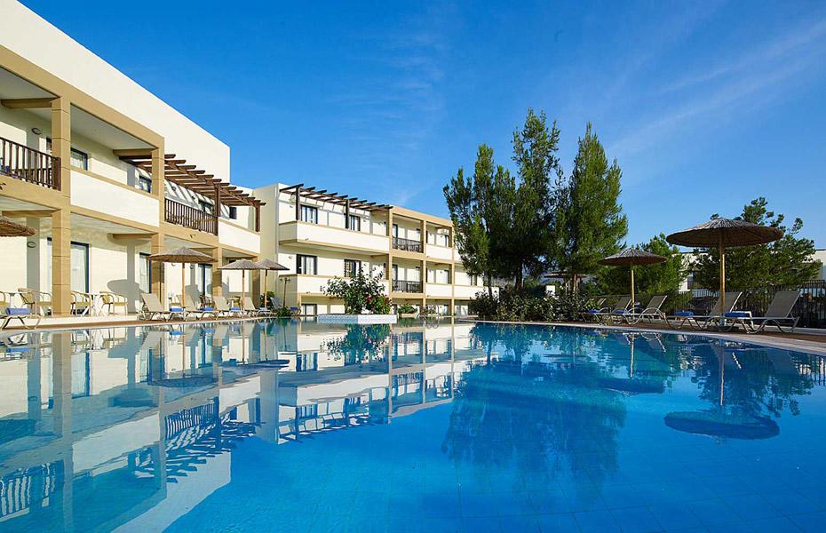 MIRALUNA VILLAGE & SPA HOTEL IN  Kiotari Beach, Rhodes