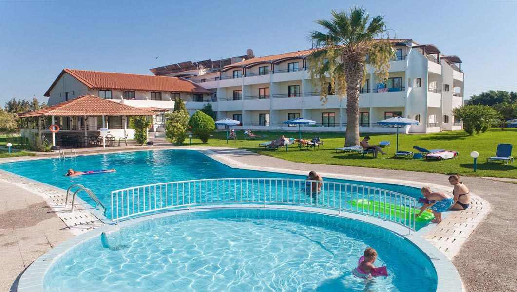 AQUA BEACH BLUE BAY FAMILY WORLD 4* IN  Ialyssos Beach, Rhodes